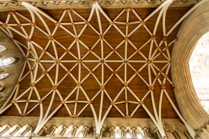 vaulted wooden cathedral ceiling
