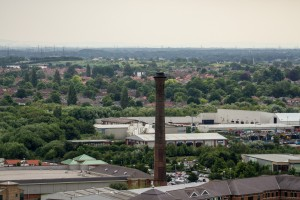 victorian red brick chimney over york