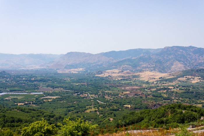 view of east sicily from castiglione di sicilia