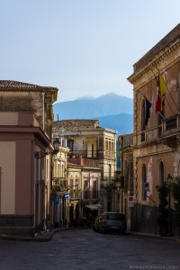 view of etna from village centre