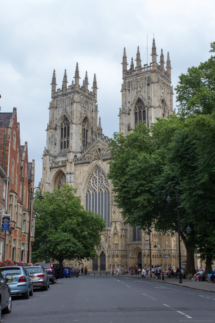 york minster cathedral from precentors court road